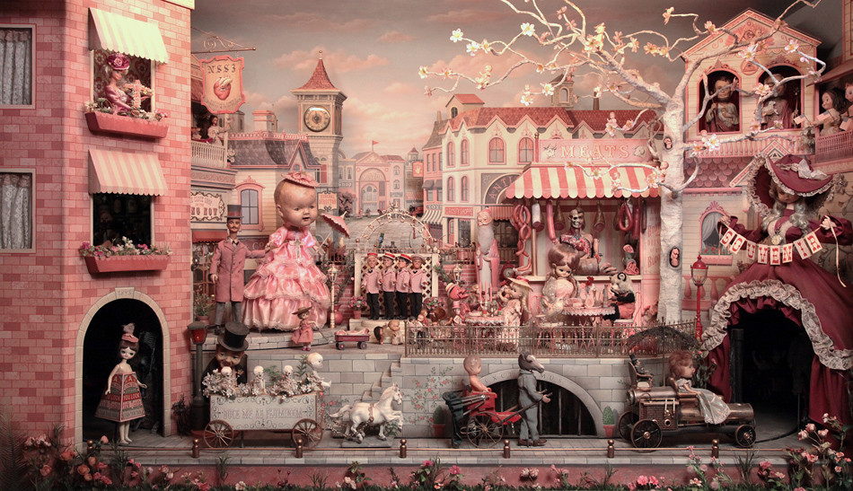 The Gay 90's: West<br>Source: https://www.markryden.com/paintings/gay_90s_west/diorama.html