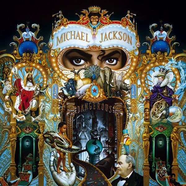 Dangerous 唱片封面 (1991)  <br> Source: https://illuminatisymbols.info/michael-jackson-dangerous-album-cover/