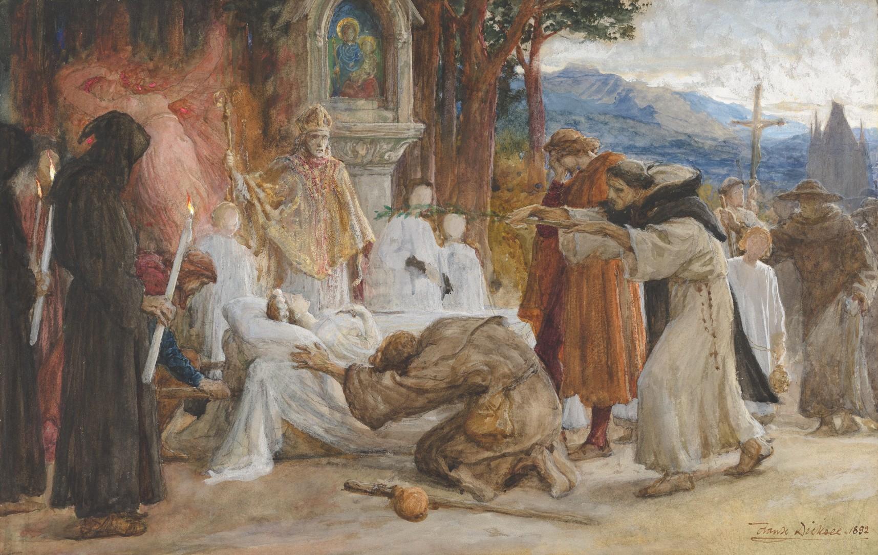 《唐懷瑟的救贖》,Frank Dicksee 畫於 1892 年。