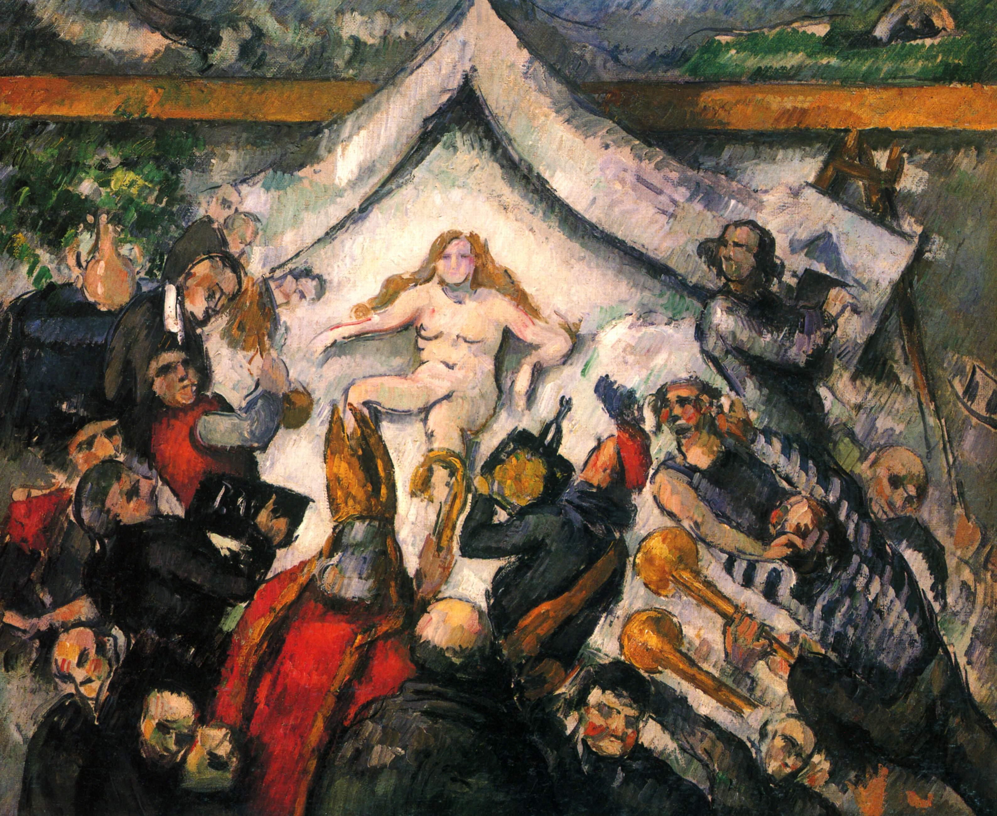 《永恆女性》,塞尚約畫於 1877 年。