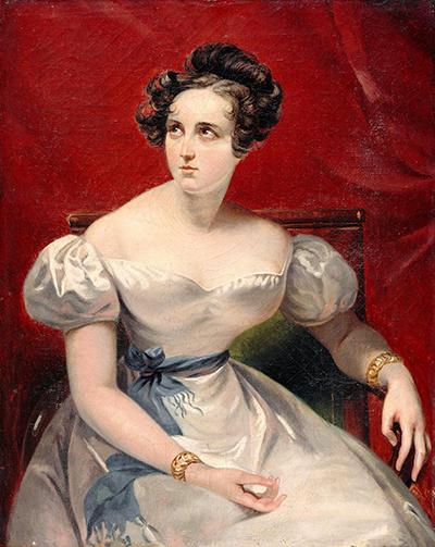 Harriet Smithson,Claude-Marie Dubufe 畫於 1830 年。