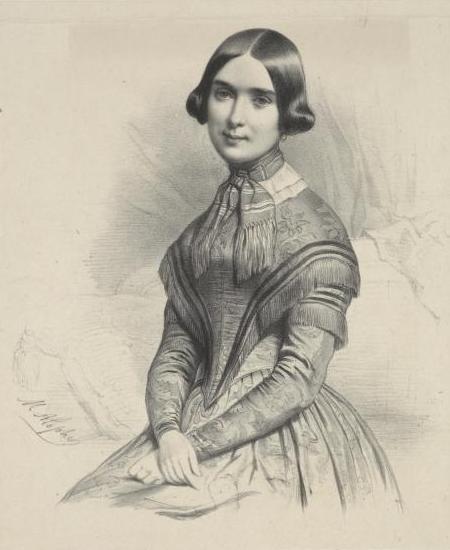 Marie Moke,Marie-Alexandre Alophe 畫於她婚後,年份不詳。